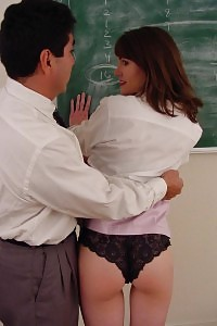Fascinating Honey Slipping Off Against Her Classroom And Take Heaps Of Whip Slapping In Her Butt