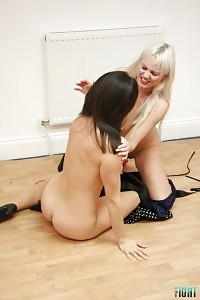 Rebekha Dee & Aleksandra Fighting Stripping Each Other