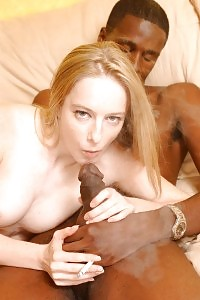 Kandi Hart Sizing Up A Giant African Dong With Her Mouth And Takes Impressive Cumshot In Her Face