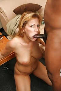 Lewd Blonde Mom Nicole Moore Slipping Off And Fucking Her Throat With A Black Dick